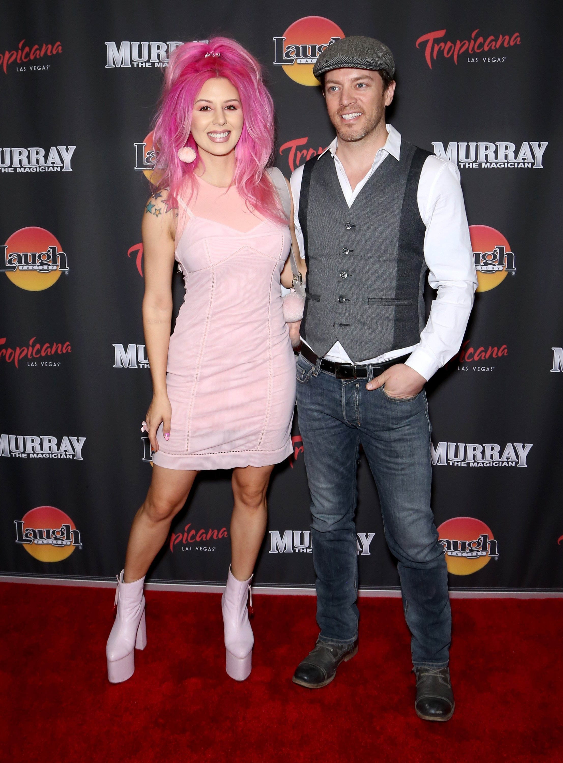 Annalee Belle and J.D. Scott on October 24, 2018 in Las Vegas, Nevada | Source: Getty Images