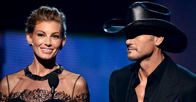 Faith Hill and Tim McGraw onstage at the 55th Annual Grammy Awards, 2013, Los Angeles.   Photo: Getty Images