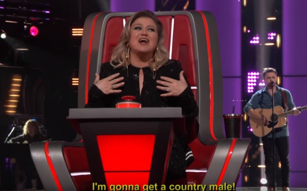 "Kelly Clarkson excited about Marlow's performance on ""The Voice"" 