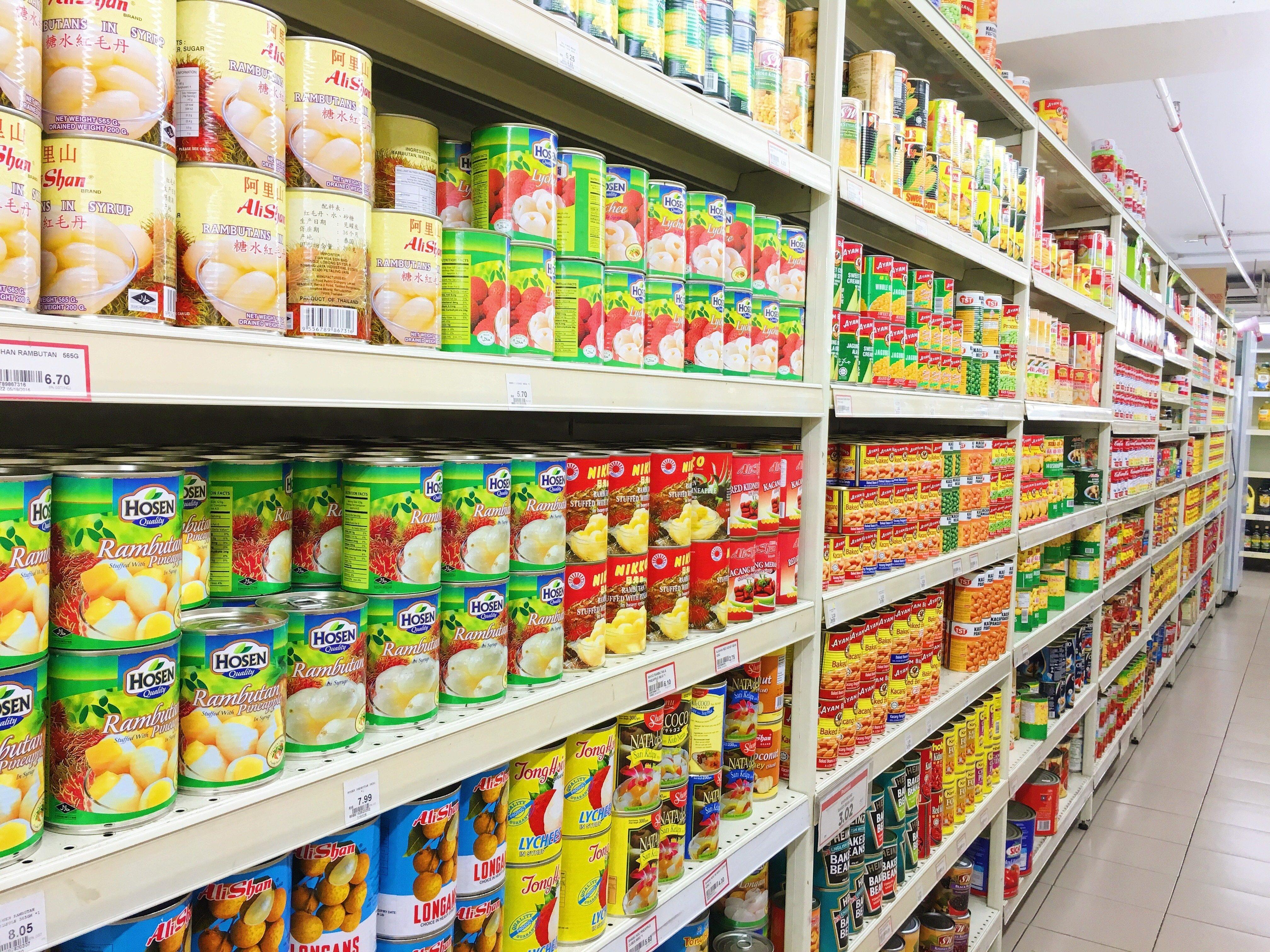 Pasillo de supermercado. Foto: Shutterstock