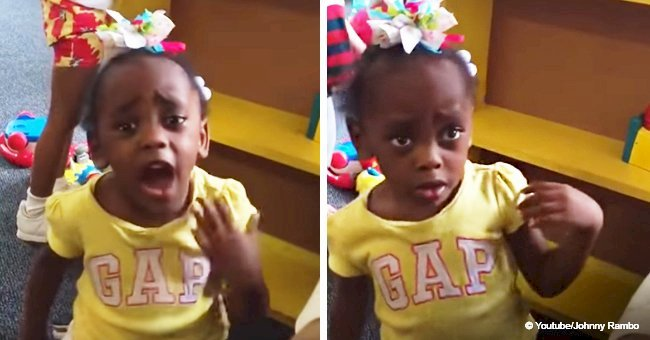 Three-year-old girl went off on her preschool teacher after being put in a timeout