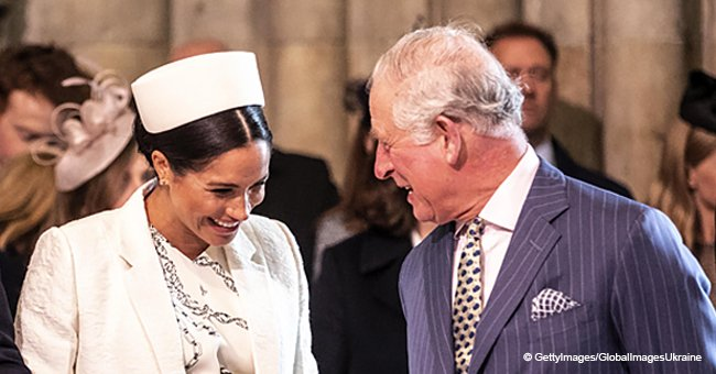 Meghan Caught Laughing at Prince Charles' Joke as She Curtsied to Him for the First Time