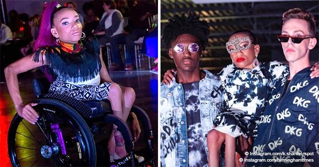 Meet the woman who can't walk but broke barriers to hit the runway and realize her modeling dreams