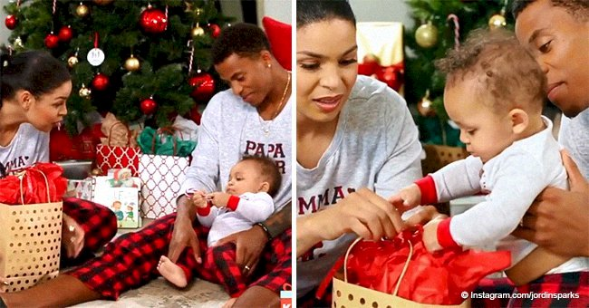 Jordin Sparks shares video with husband & son in matching pajamas for their 1st Christmas holiday
