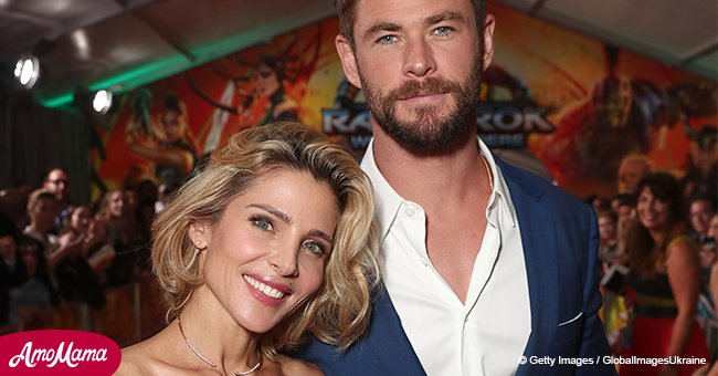Chris Hemsworth's wife stuns in a floral dress while stepping out at the fashion show