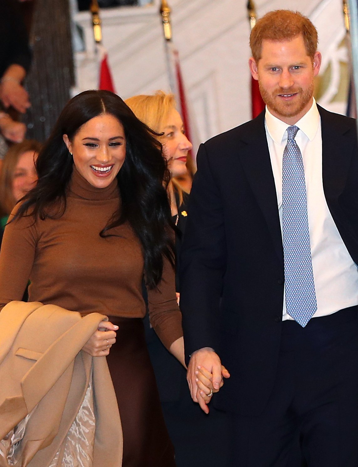 The Duke and Duchess of Sussex leaving after their visit to Canada House, central London, to meet with Canada's High Commissioner to the UK, Janice Charette, as well as staff, to thank them for the warm hospitality and support they received during their recent stay in Canada. Picture date: Tuesday January 7, 2020|Photo: Getty Images