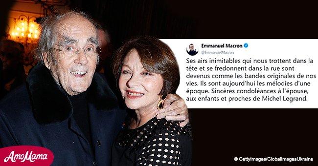 L'épouse de Michel Legrand critique le soutien de Macron après un tweet en hommage à son mari