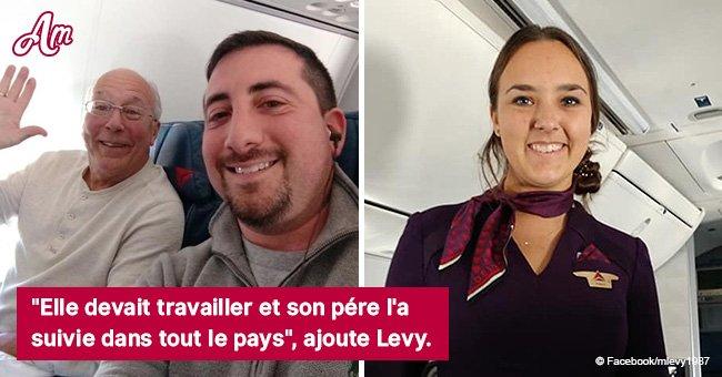 Un père voyage avec sa fille, hôtesse de l'air, tout le réveillon de Noël pour qu'elle ne se sente pas seule