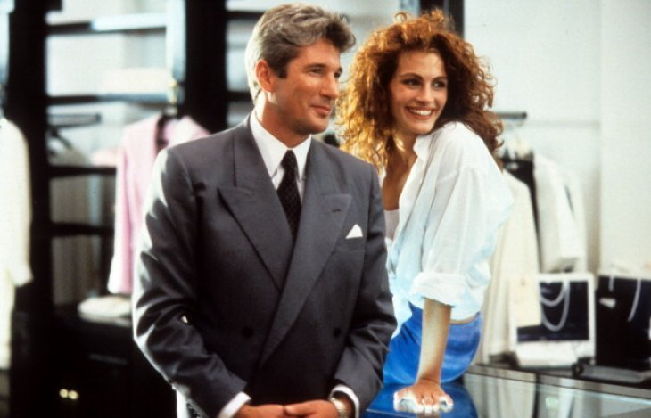 Richard Gere and Julia Roberts on the set of Pretty Woman | Image Source: Getty