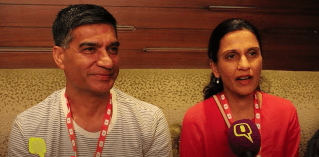Lilly Singh's parents in an interview with The Quint. | Source: YouTube.com/TheQuint