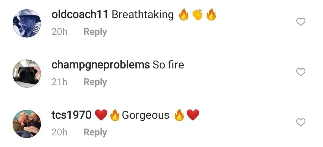 Screenshot of comments on Nastia Liukin's Instagram post. | Source: Instagram/NastiaLiukin