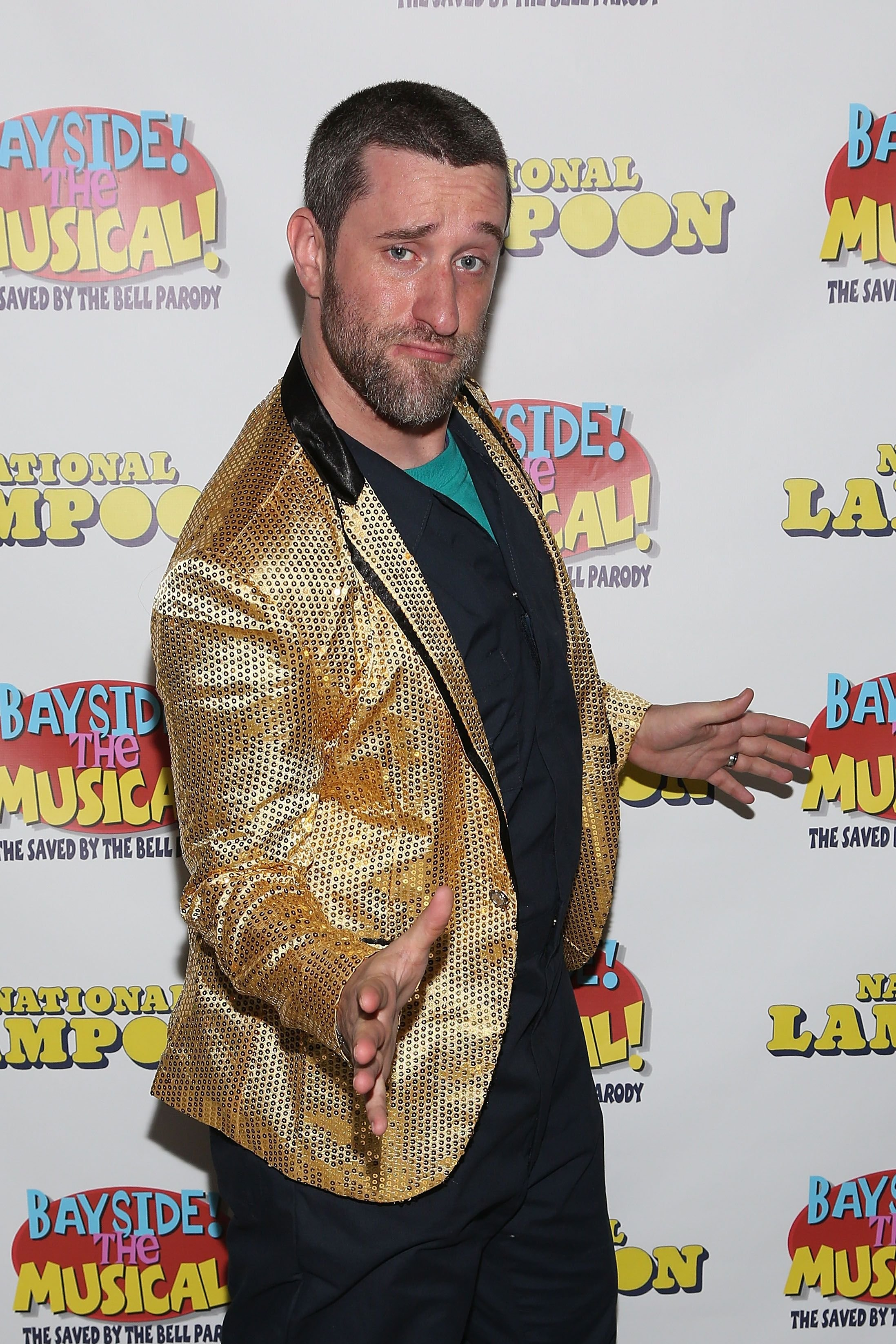 "Dustin Diamond attends the sold-out opening performance of ""Bayside! The Musical!"" at Theatre 80 St. Marks on September 11, 2014 