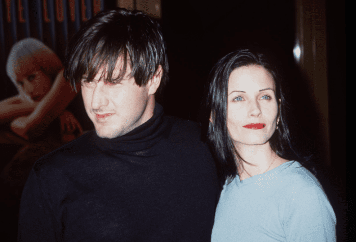 """Courteney Cox and David Arquette at the premiere of """"Goodbye Lover"""" in Westwood, California on April 14, 1999   Photo: Getty Images"""