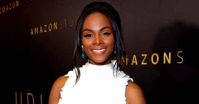 Tika Sumpter from 'Mixed-ish' Stuns in White Flower Appliqué Minidress & High Heels in Gorgeous Photos