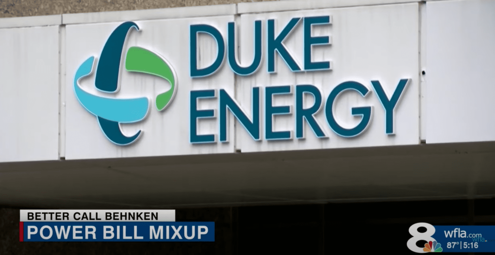 The exterior of the Duke Energy building, the company who is accused of charging a woman's account incorrectly   Photo: Youtube/WFLA News Channel 8