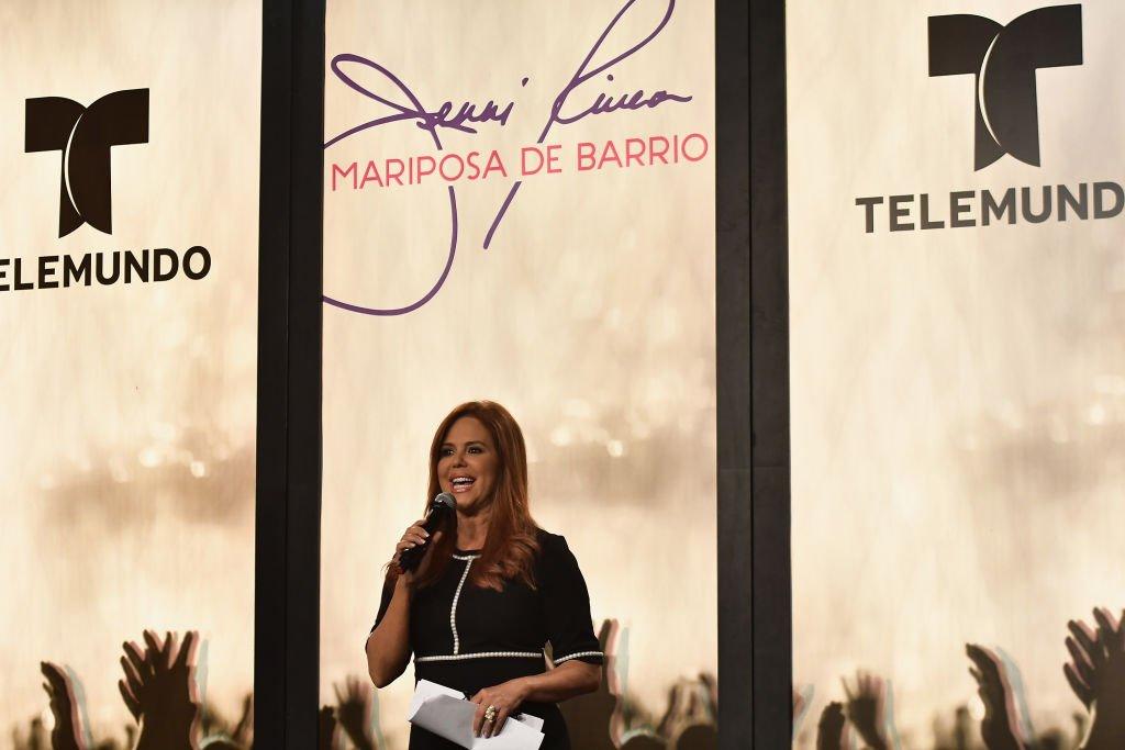 María Celeste presenta al elenco de 'Jenni Rivera': Mariposa de Barrio'.  Fuente: Getty Images