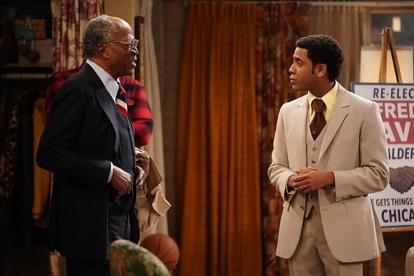 John Amos and Jharrel Jerome live on the set of 'Good Times'   Photo: Getty Images
