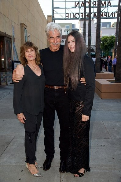 Katharine Ross, Sam Elliott and daughter Cleo Elliott at the Egyptian Theatre on June 5, 2017 in Hollywood, California | Photo: Getty Images