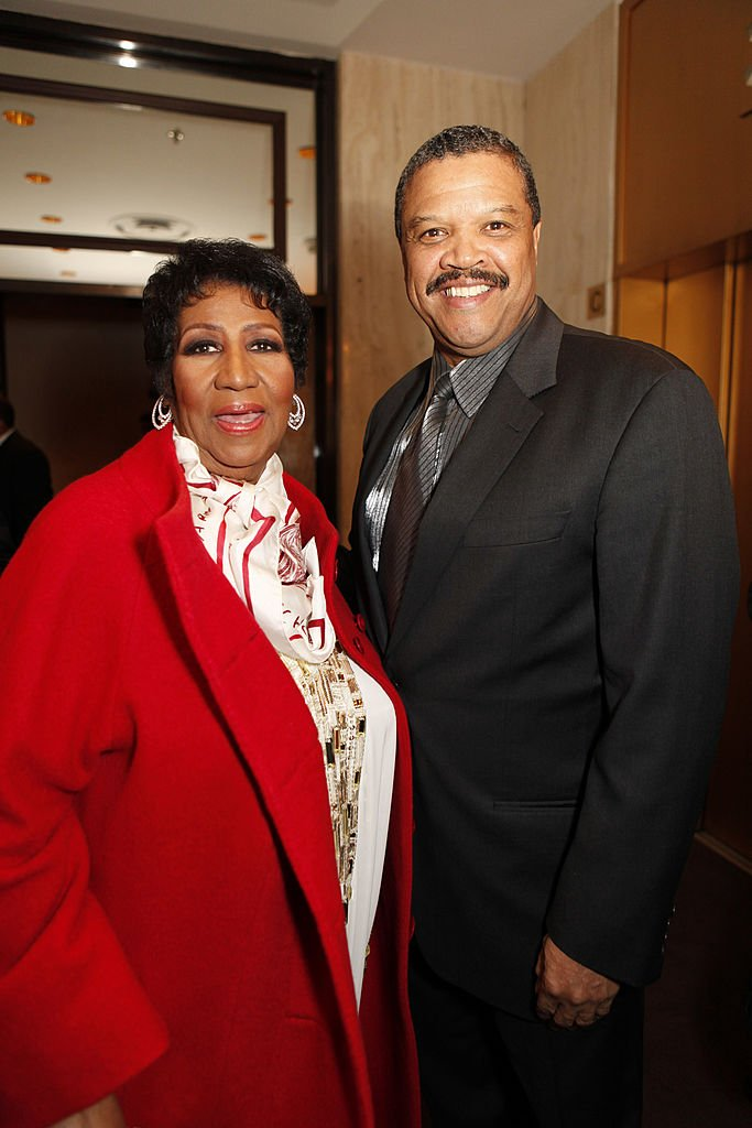 Aretha Franklin and Willie Wilkerson at Franklin's birthday dinner in March 2011. | Photo: Getty Images