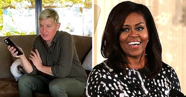 Michelle Obama Talks about Staying at Home during Self-Isolation during Call with Ellen DeGeneres