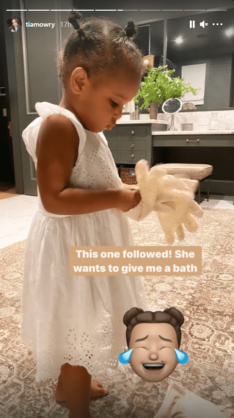 Tia Mowry shares a picture of her daughter Cairo on her Instagram | Photo: Instagram/tiamowry