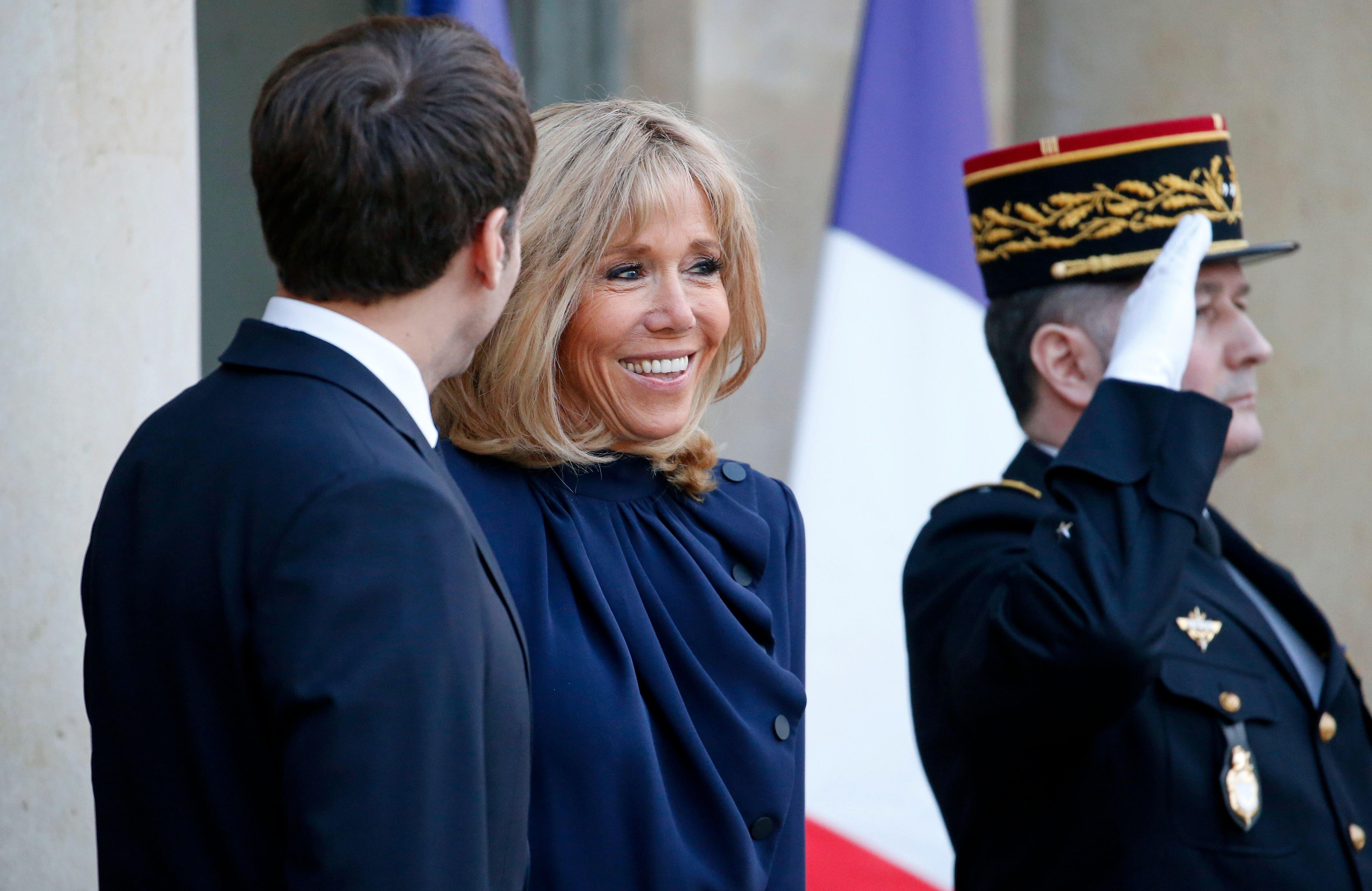 Brigitte et Emmanuel Macron. l Source: Getty Images