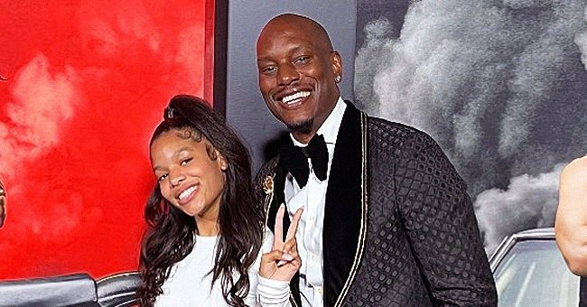 Tyrese Gibson & Firstborn Daughter Shayla Look like Twins Smiling in Two-Tone Outfits at 'F9' Premiere