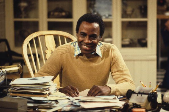 "Robert Guillaume playing Benson on the set of ""Soap."" 