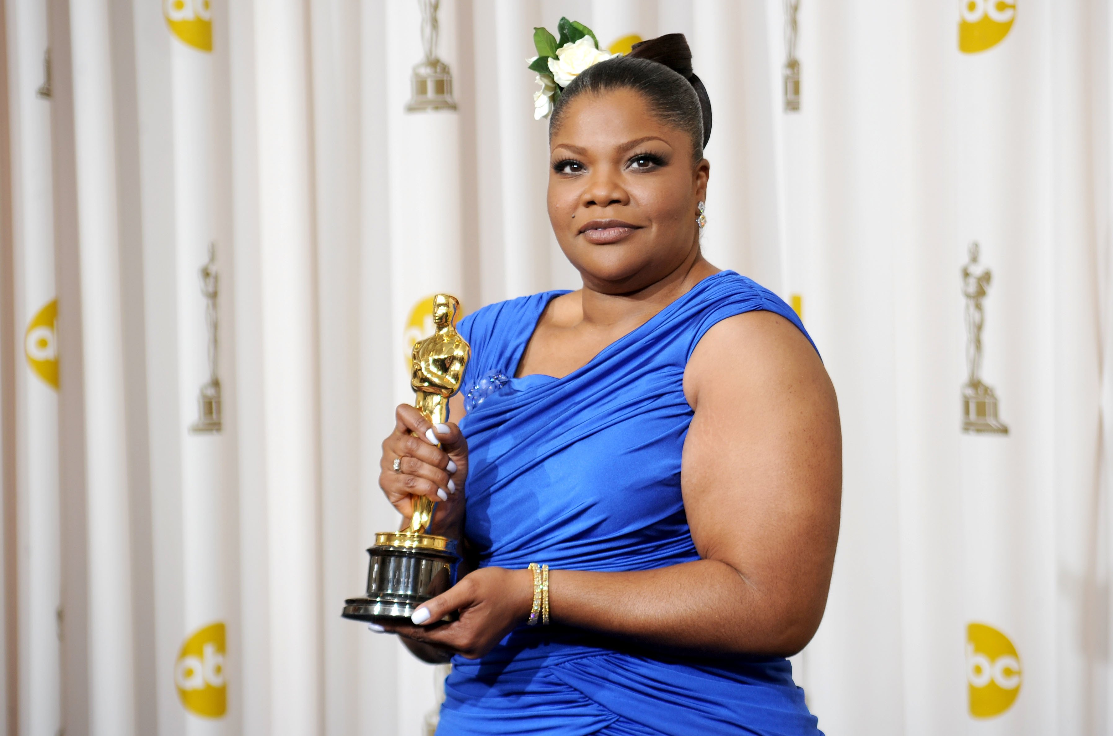 "Mo'Nique at the 2010 Academy Awards, where she won the Oscar for Best Supporting Actress for ""Precious"", March 7, 2010 
