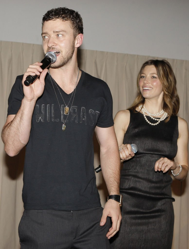 Justin Timberlake und Jessica Biel, Hollywood, 2008 | Quelle: Getty Images
