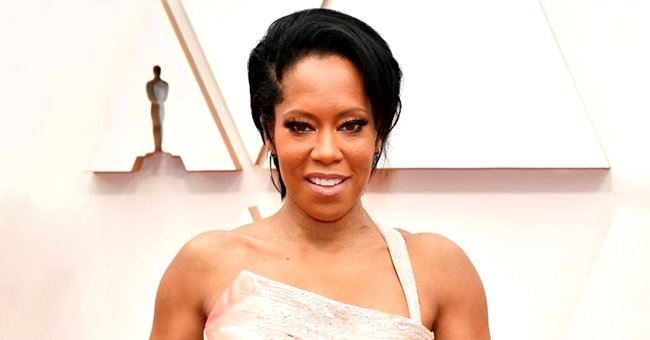 Regina King from 'Watchmen' Stuns in Pink Versace Gown & Glittering Jewelry at the 2020 Oscars Red Carpet