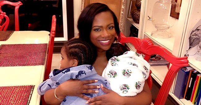 Kandi Burruss from RHOA Looks over the Moon as She Cuddles Son Ace & New Baby Blaze in Recent Photo