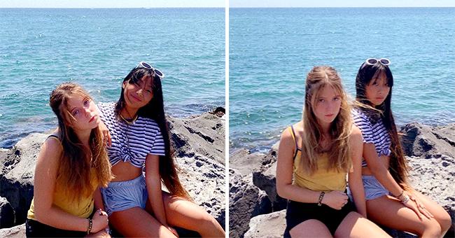 Jade Hallyday passe du bon temps avec Tess Rambaldi, sa copine, dans le sud de la France