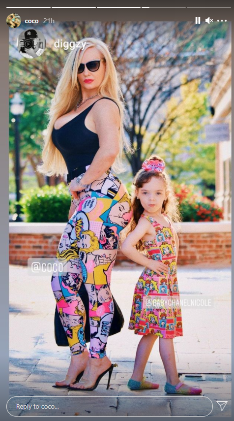 A picture of Coco Austin and her daughter Channel posing beside each other | Photo: Instagram/coco