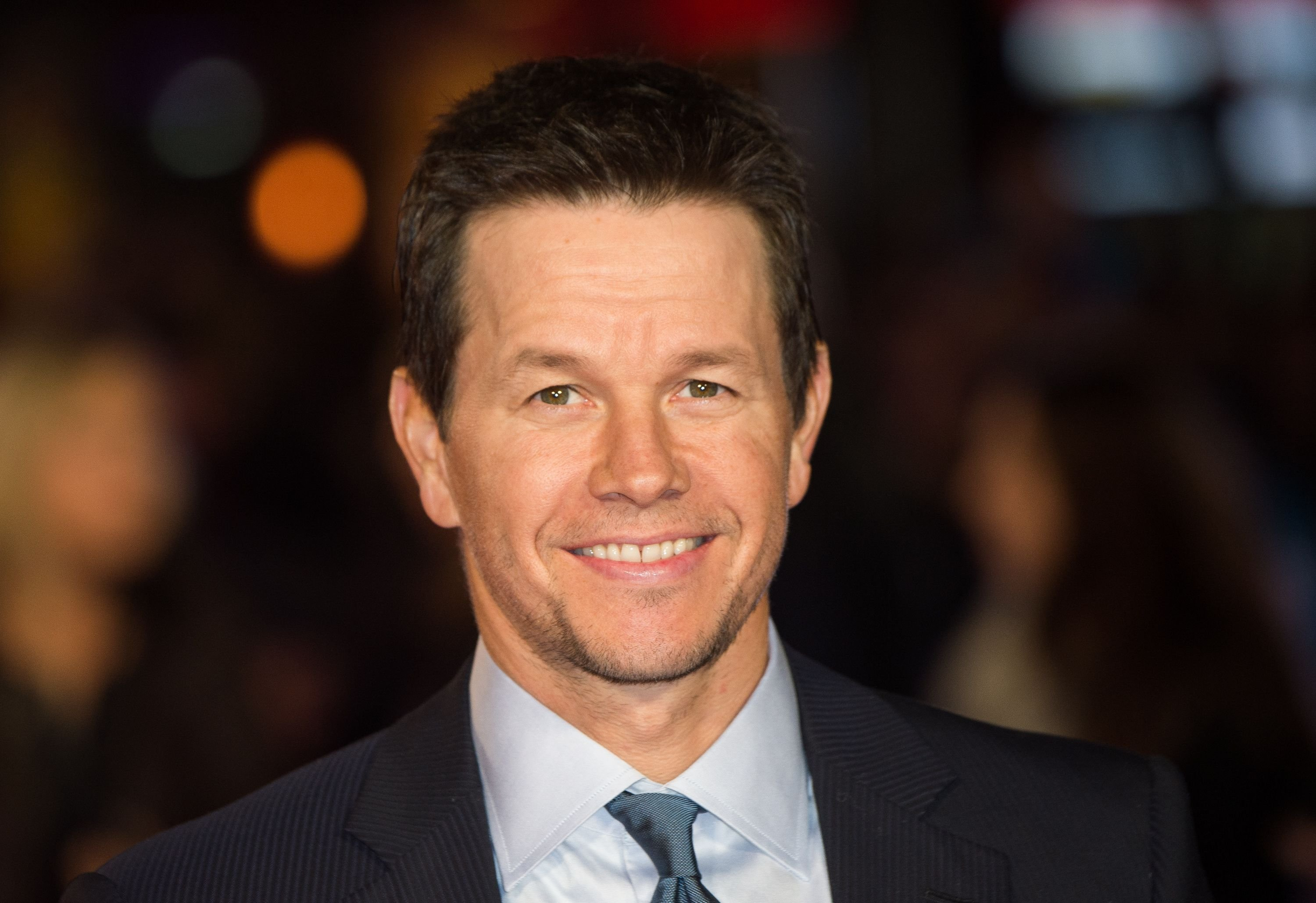 "Mark Wahlberg at the UK premiere of ""Daddy's Home"" in 2015 in London, England 