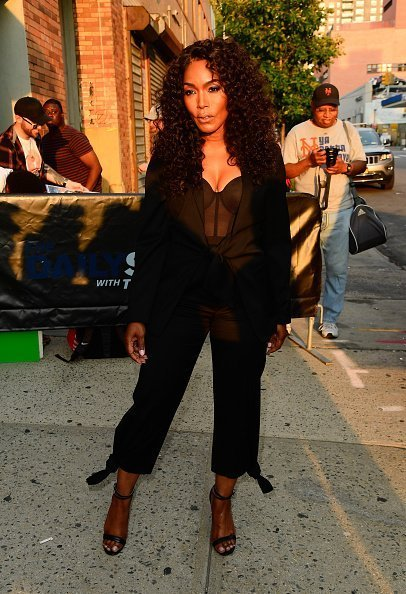 """Angela Bassett outside """"The Daily Show"""" in New York City 