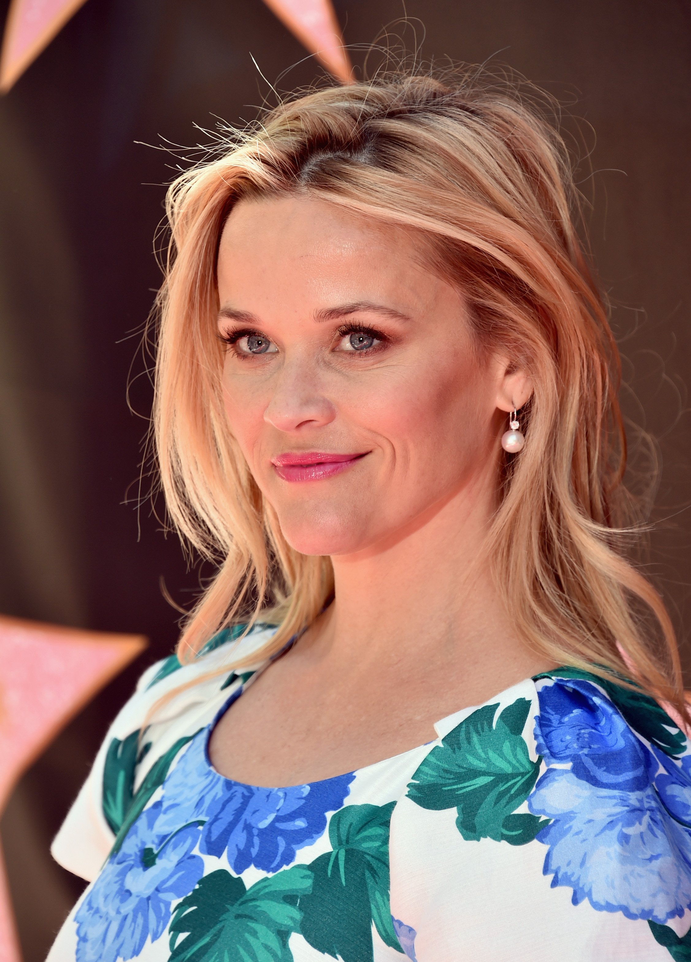 Reese Witherspoon attends Eva Longoria's Hollywood Star Ceremony Post-Luncheon on April 16, 2018, in Beverly Hills, California. | Source: Getty Images.
