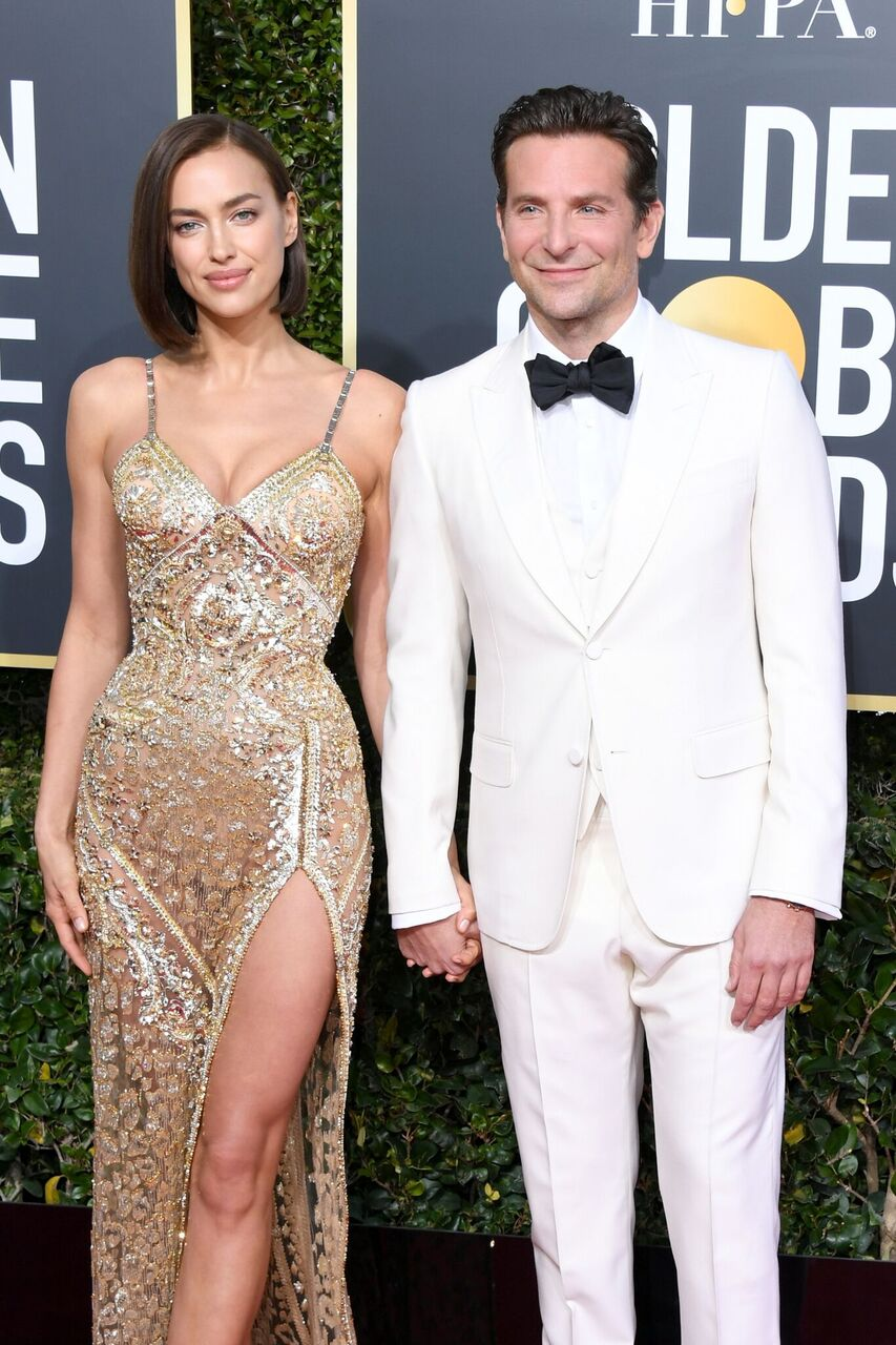 Irina Shayk and Bradley Cooper attend the 76th Annual Golden Globe Awards.   Source: Getty Images