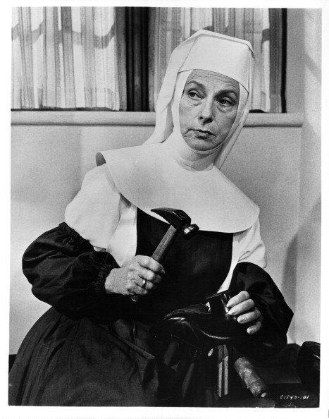 """Actress Agnes Moorehead in a scene the movie """"The Singing Nun """" circa 1966 