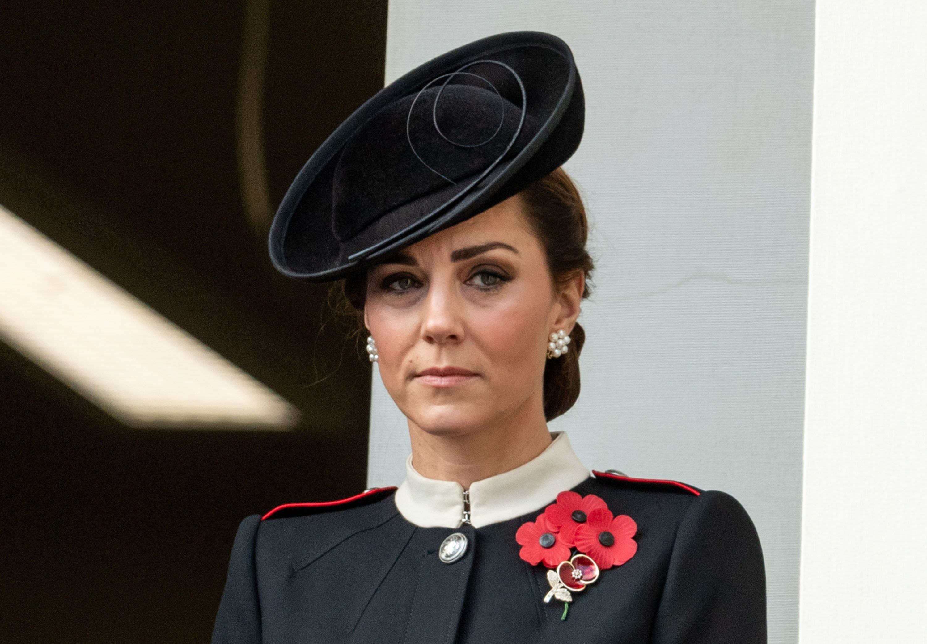 Kate Middleton during the annual Remembrance Sunday memorial at the Cenotaph on November 11, 2018 in London, England. | Source: Getty Images