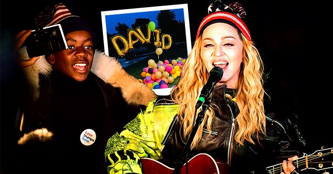 David Banda and Madonnaat Washington Square Park in support of Hillary Clinton on November 7, 2016, in New York City, and a snippet of Banda's 16th birthday celebration uploaded on September 27, 2021 | Photos: James Devaney/GC Images/Getty & Instagram/madonna