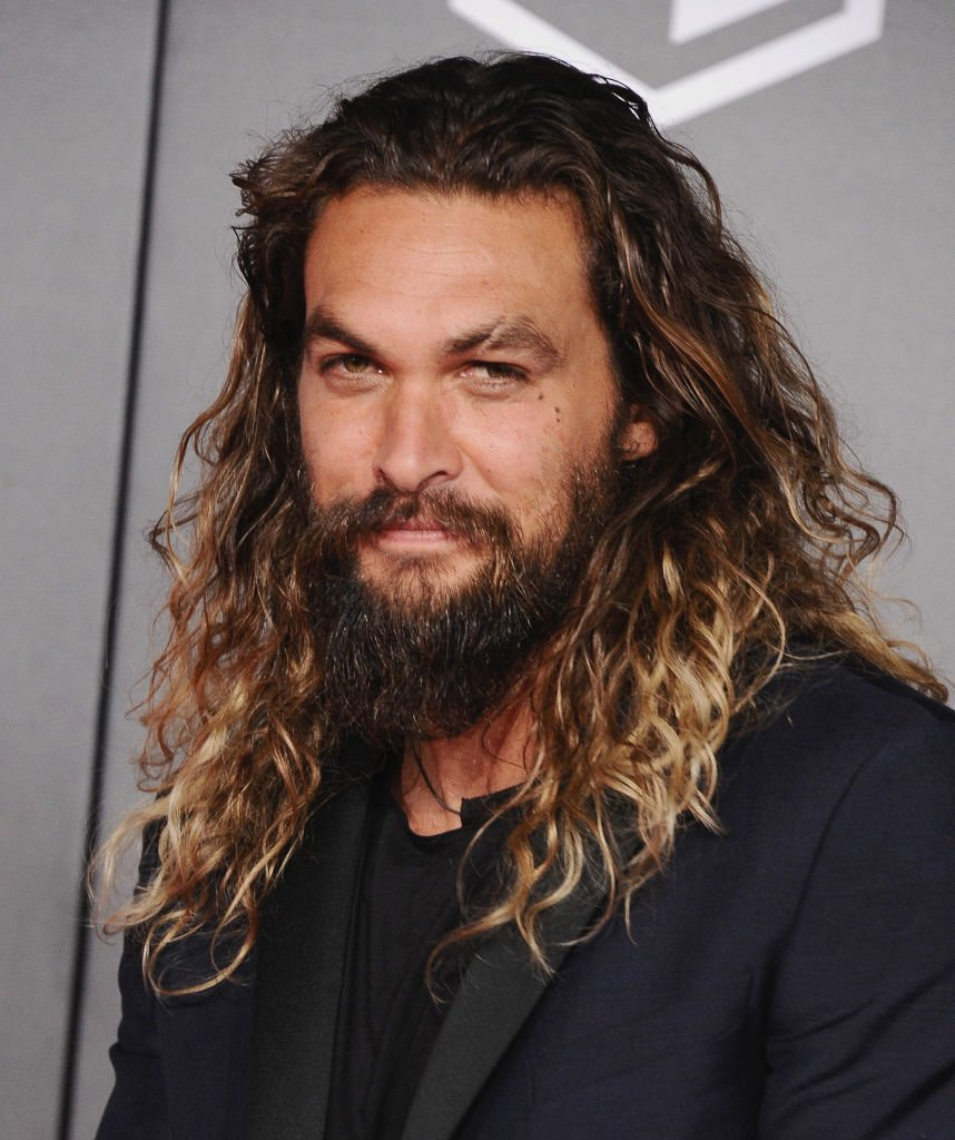 """Jason Momoa pictured at the Los Angeles Premiere of Warner Bros. Pictures' """"Justice League."""" 2017, Hollywood, California.   Photo: Getty Images"""