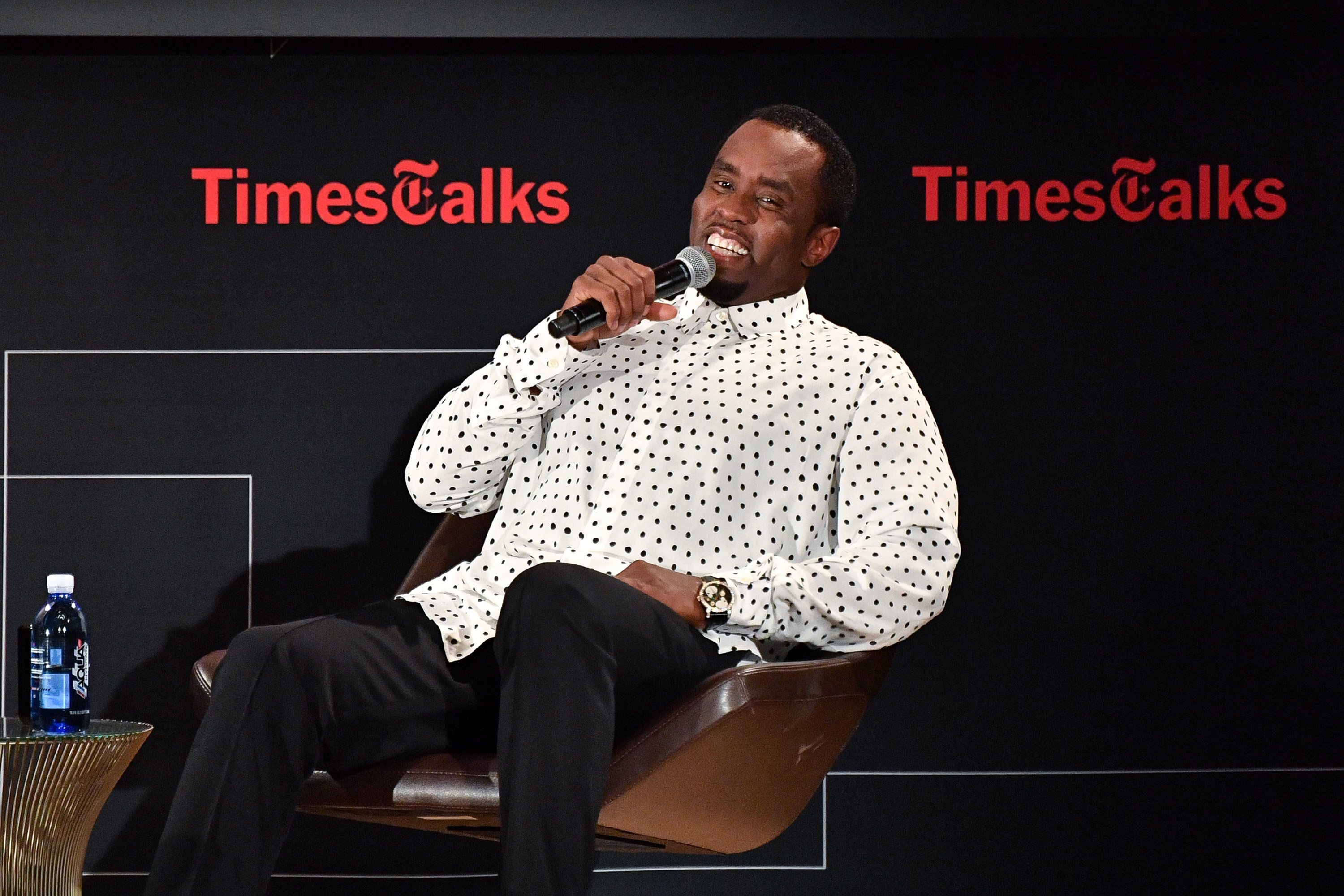 """Sean """"Diddy"""" Combs at TimesTalks Presents: An Evening with Sean """"Diddy"""" Combs on September 20, 2017. 