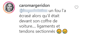 Capture d'écran du commentaire de Caroline Margeridon sur Instagram | Photo : Instagram/caromargeridon/