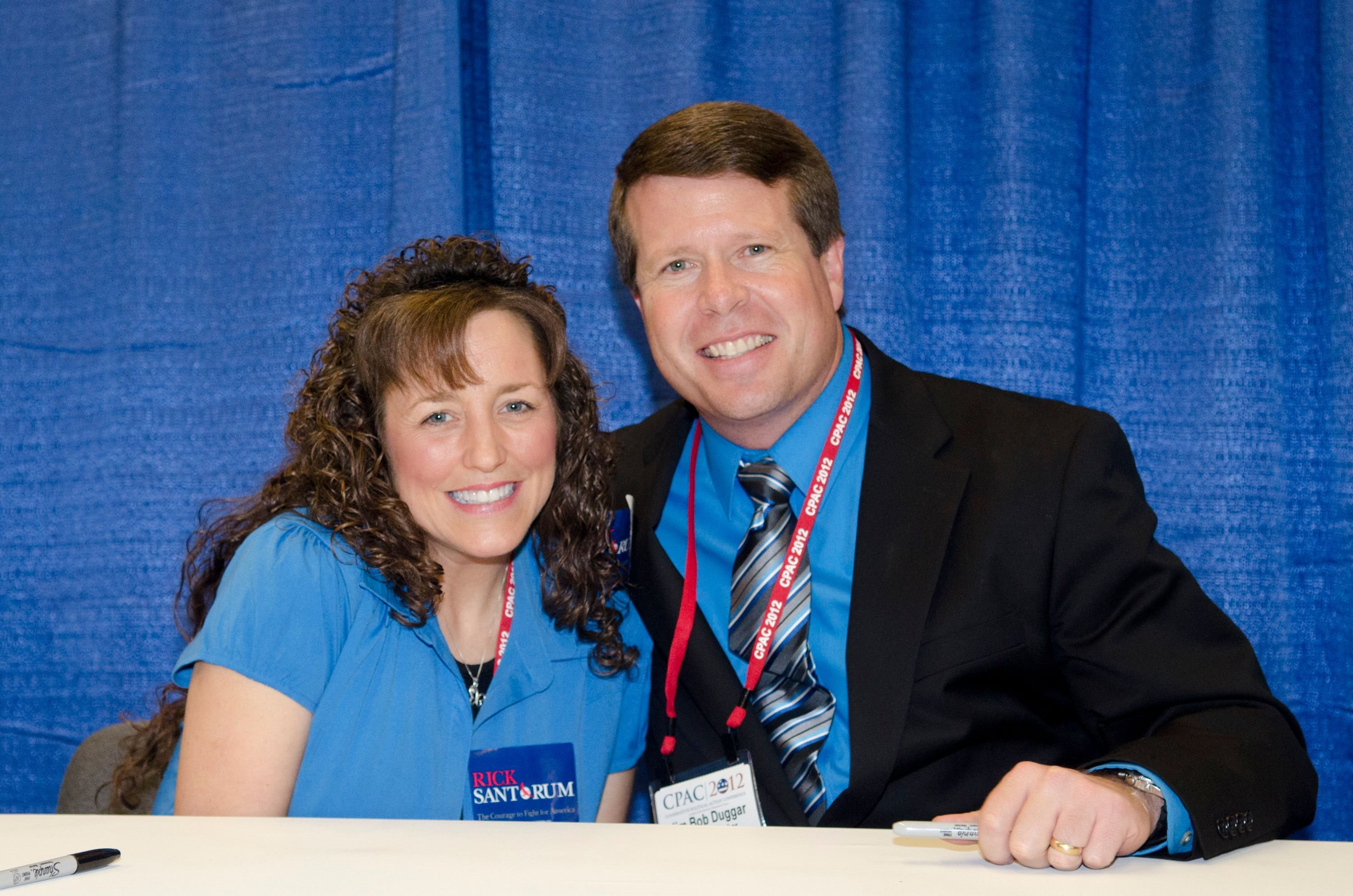 """Michelle Duggar and Jim Bob Duggar promote their book """"A Love That Multiplies"""" during the Conservative Political Action Conference (CPAC) at the Marriott Wardman Park on February 10, 2012 