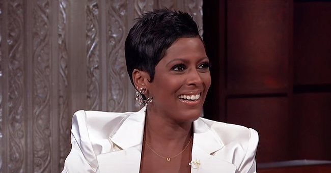 Tamron Hall Shares Sweet Moment with Her Son Wearing a Custom Robe Ahead of Her 50th Birthday