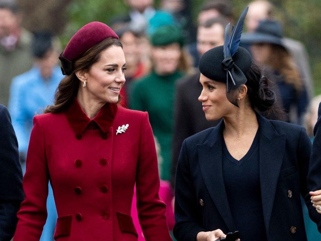 Kate Middleton and Meghan Markle attend Christmas Day Church service at Church of St Mary Magdalene on the Sandringham estate on December 25, 2018 in King's Lynn, England. | Photo: Getty Images