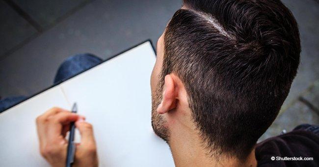 Un homme écrit une lettre à sa femme pour demander le divorce