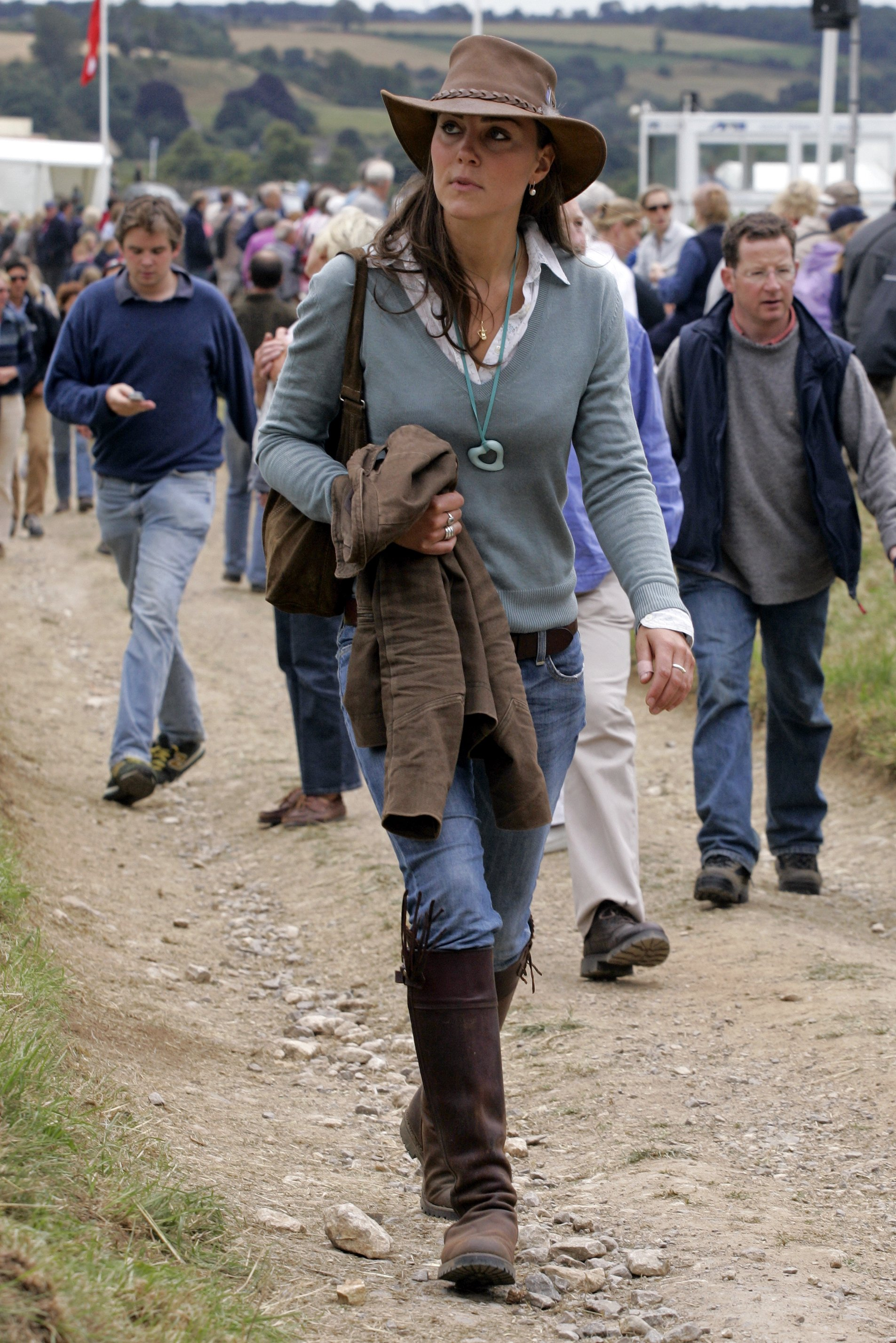 In 2005, Kate Middleton wore her trusty boots to the Festival of British Eventing at Gatcombe Park, in Stroud, England. | Photo: Getty Images
