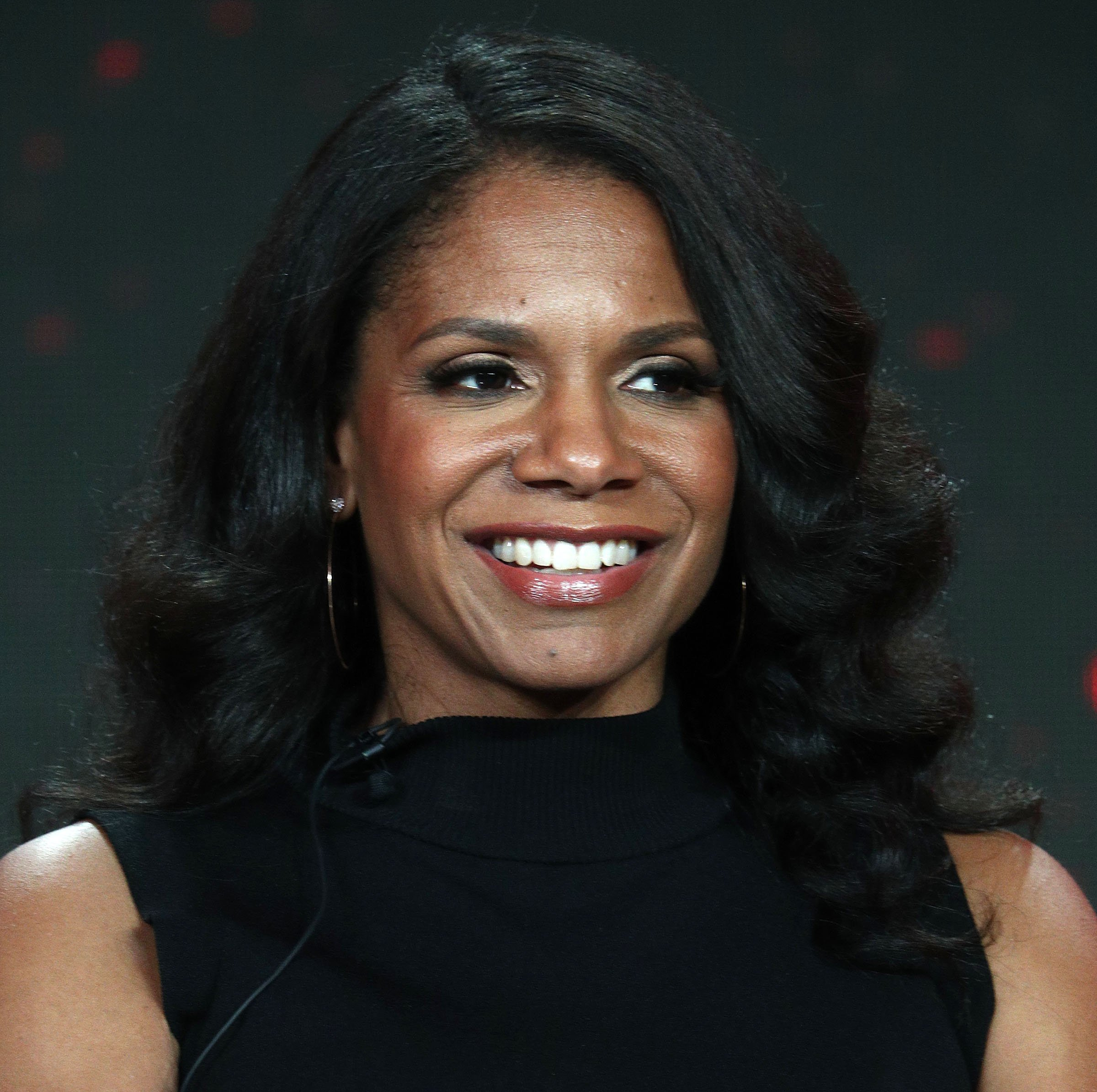 "Audra McDonald of the television show ""The Good Fight"" speaks during the CBS segment of the 2019 Winter Television Critics Association Press Tour at The Langham Huntington, Pasadena on January 30, 2019, in Pasadena, California. 